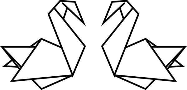 Cygnes origami
