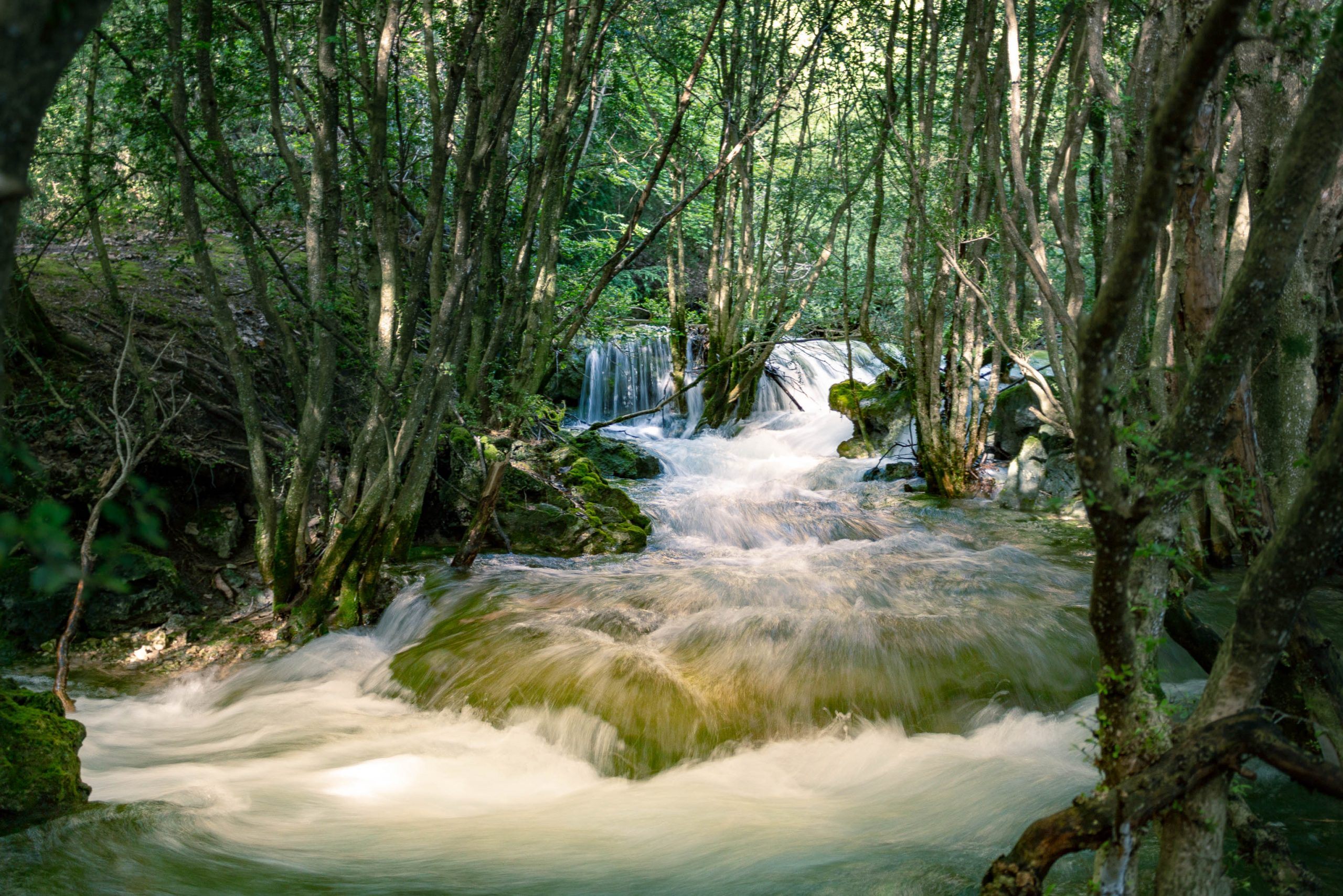 Rivière au dessus de Saint Maurin