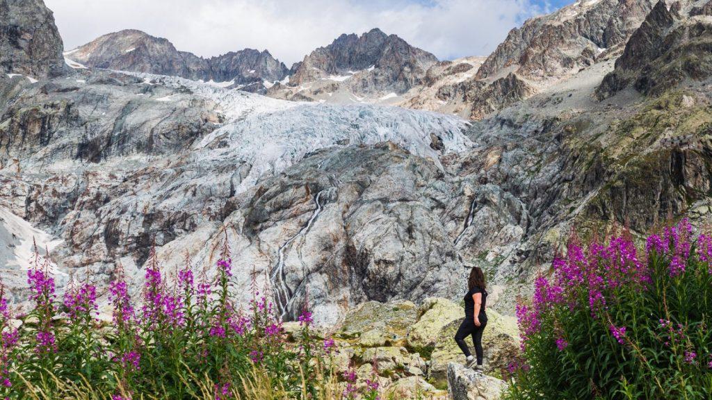 Le glacier blanc depuis l'ancien refuge tuckett