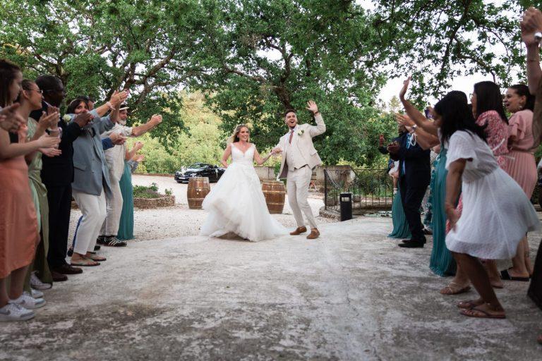 Photo de l'entrée des mariés